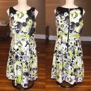 Taylor fit and flare floral dress